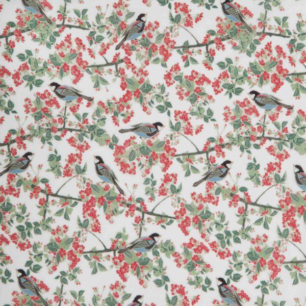 Bird in Blossom Ivory Swatch