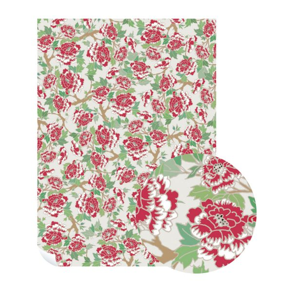 Gardenia Wrapping Paper by Emily Burningham