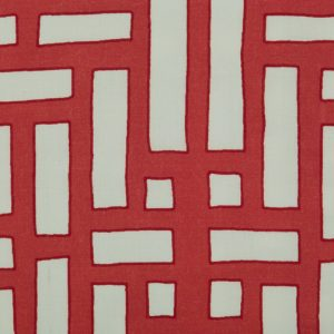 Shanghai Trellis Red by Emily Burningham